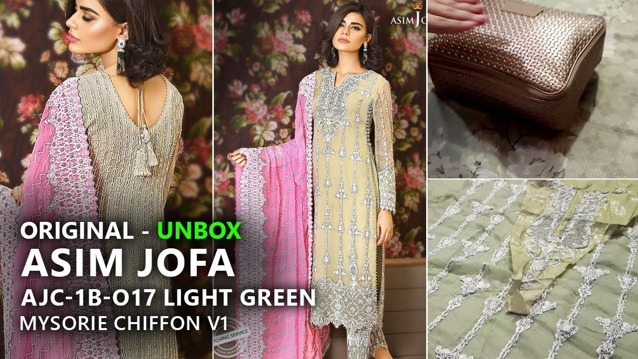 56861263aa Asim Jofa Chiffon Collection 2017 - AJC 1B Mysorie Volume 1 - Pakistani  Wedding Dresses. Sara Clothes