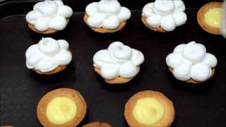 Lemon Tart With Meringue Topping - Lemon Custard Filling Tart