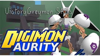 Digimon Aurity : VictoryGreymon Skills Show   Roblox