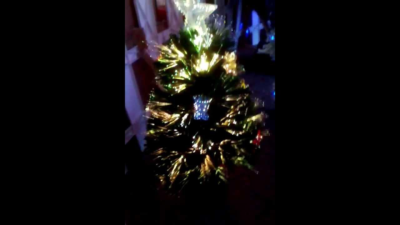 Mini Rotating Multi Color Fibre Optic Christmas Tree CQ