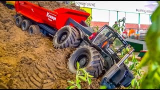 RC Tractor in TROUBLE! Claas Xerion rescue ACTION ends in a CRASH!