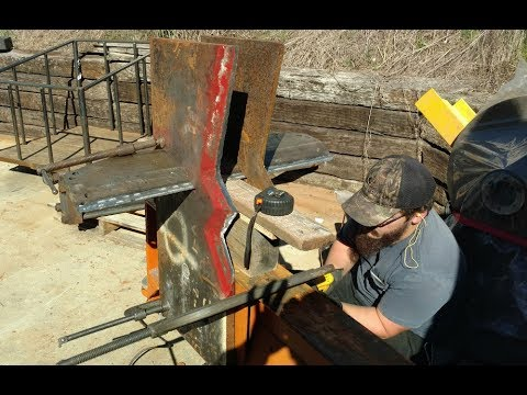 Log Splitter Homemade 45 Ton - Step 11 Finishing the Blade
