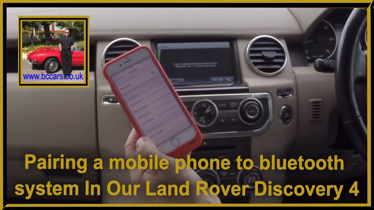 Pairing a mobile phone to bluetooth system In Our Land Rover Discovery 4 3  0 TD V6 HSE 4x4 5dr