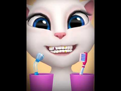 [My Talking Angela] Đánh răng trước khi đi ngủ