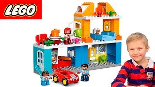 Даник и Мама играют в Лего набор - Семейный Дом. Развивающий конструктор для детей Lego Duplo 10835