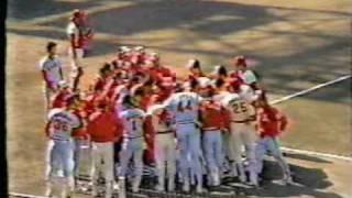 阪急ブレーブス 福本選手デットボール 1984年日本シリーズ第6戦 thumbnail