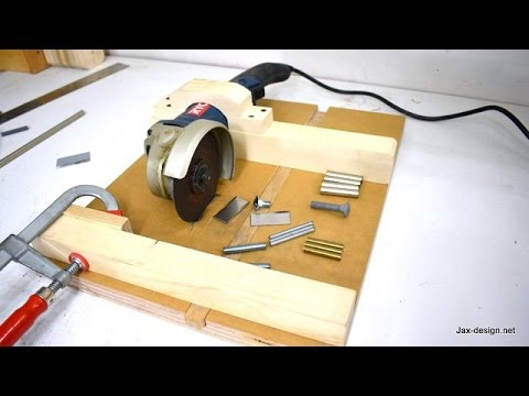 How To Make An Angle Grinder Holder With Miter Gauge Youtube