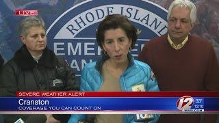 Governor Raimondo holds storm press conference