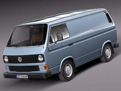 3d model volkswagen t3 van 1979 to 1988 3d model at