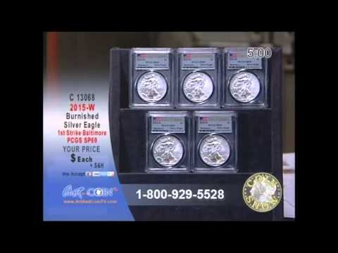 2015-W Burnished Silver Eagle from Baltimore Show on Art and Coin TV