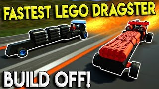 FASTEST LEGO DRAGSTER BUILD, RACES, & CRASHES! - Brick Rigs Multiplayer Gameplay Challenge - Lego