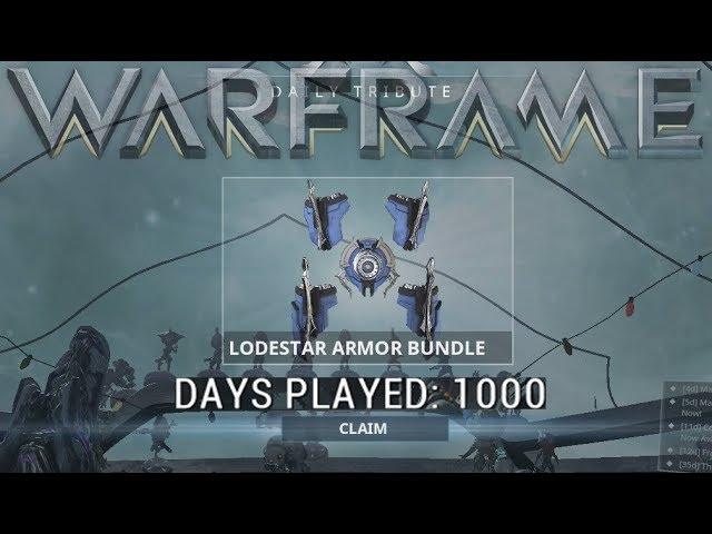 Warframe - 1000 Days Played Reward! (Lodestar Armor Bundle)