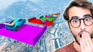 HO COMPLETATO LA MEGA RAMPA COLORATA DI GTA 5! *99% IMPOSSIBILE*