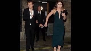 Harry Styles and Jeff's girlfriend Glenne leaving the Toy Room Nightclub