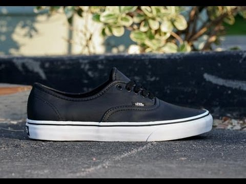 94cde6768c 90 Seconds Review or Less  Vans New Era Italian Leather Black - YouTube