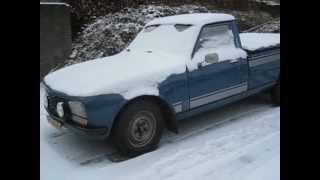 Peugeot 504 pick up Indenor diesel koude start