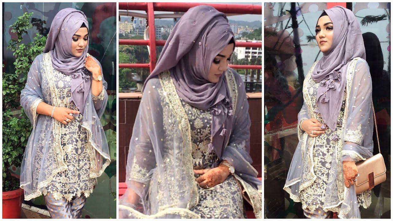 Party Hijab Style Wedding Guest Hijab Style Mutahhara Youtube