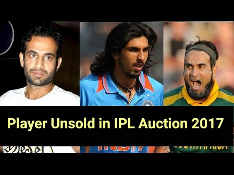 Top 10 Player Unsold In IPL AUCTION in 2017