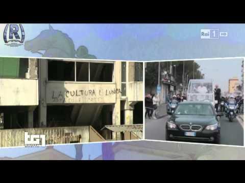 Rai 1 - TG Rai Vaticano Del 21.03.2015 - Il Papa Tra Le Vele Di Scampia