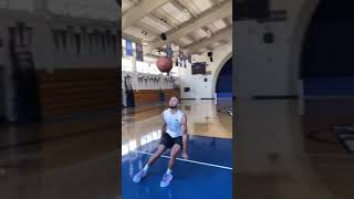 Steph Curry posted his first TikTok and he's practicing some dunks 😂   #Shorts