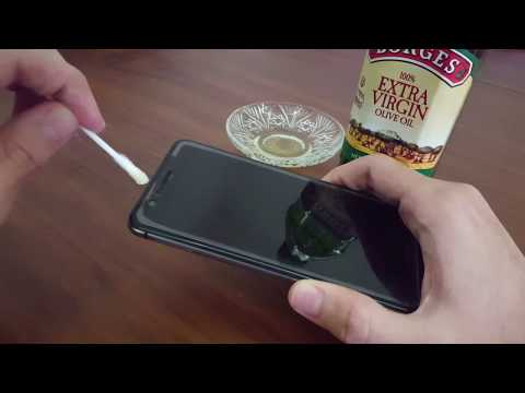Removing Halo Effect from Tempered Glass (Olive Oil)