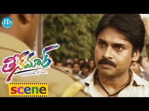 Teenmaar Movie - Pawan Kalyan Dual Role Emotional Scene