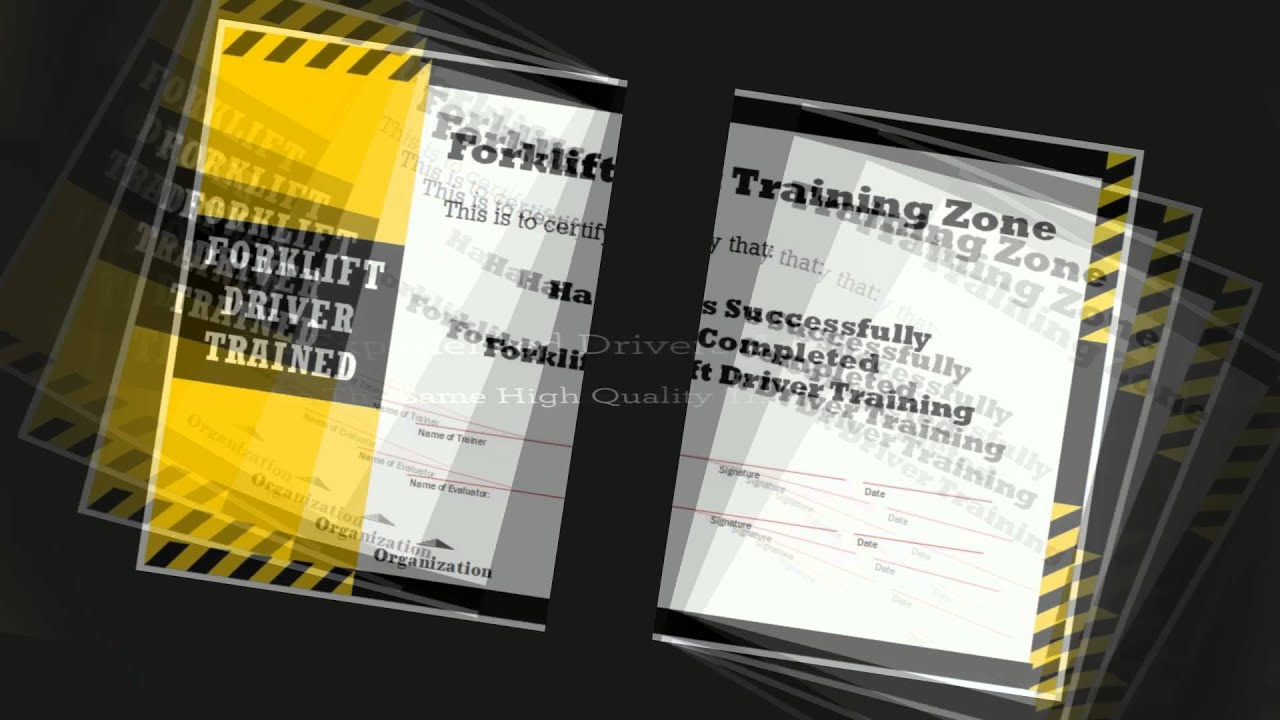 Forklift Training And Certification Academy Youtube