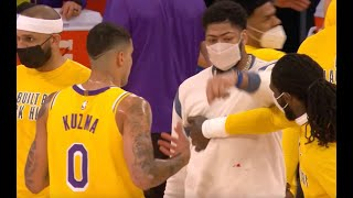 Anthony Davis Changes Outfit Twice After Kyle Kuzma Gets Blood on His Sweater