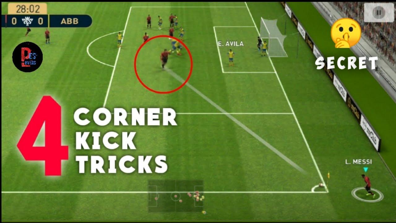 4 Secret Corner Kick Tricks to Score Goals Easily __Pes 19 Mobile