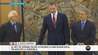 Presidente Ivan Duque lleva razones a España