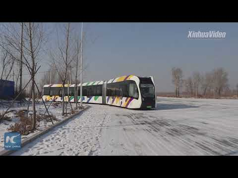China tests smart electric train running on virtual tracks in frigid weather