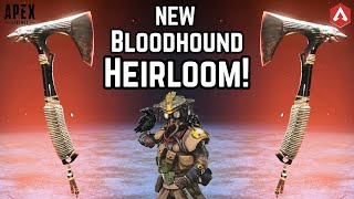 NEW BLOODHOUND HEIRLOOM 'Ravens Bite' GAMEPLAY! Unlocking The Iron Crown Collection! Apex Legends