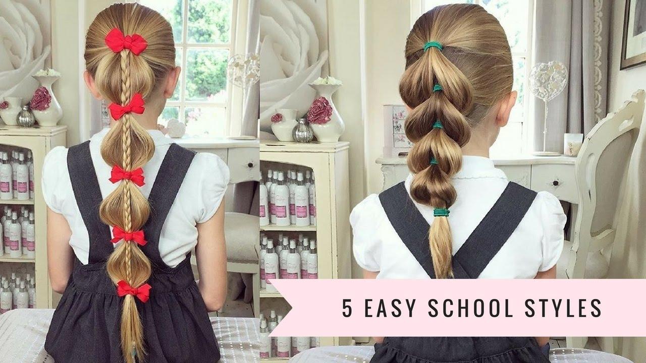 9 Easy Hairstyles For School: 5 Easy School Hairstyles By SweetHearts Hair