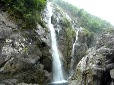 奄美大島のタンギョの滝全景