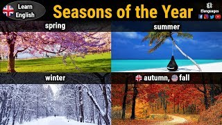 Seasons of the year in English with pictures for kids