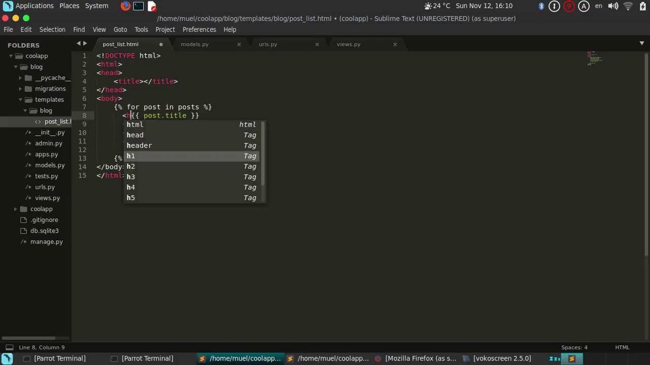 Django 1.11 BlogApp Part5 (Templates part 2) - YouTube