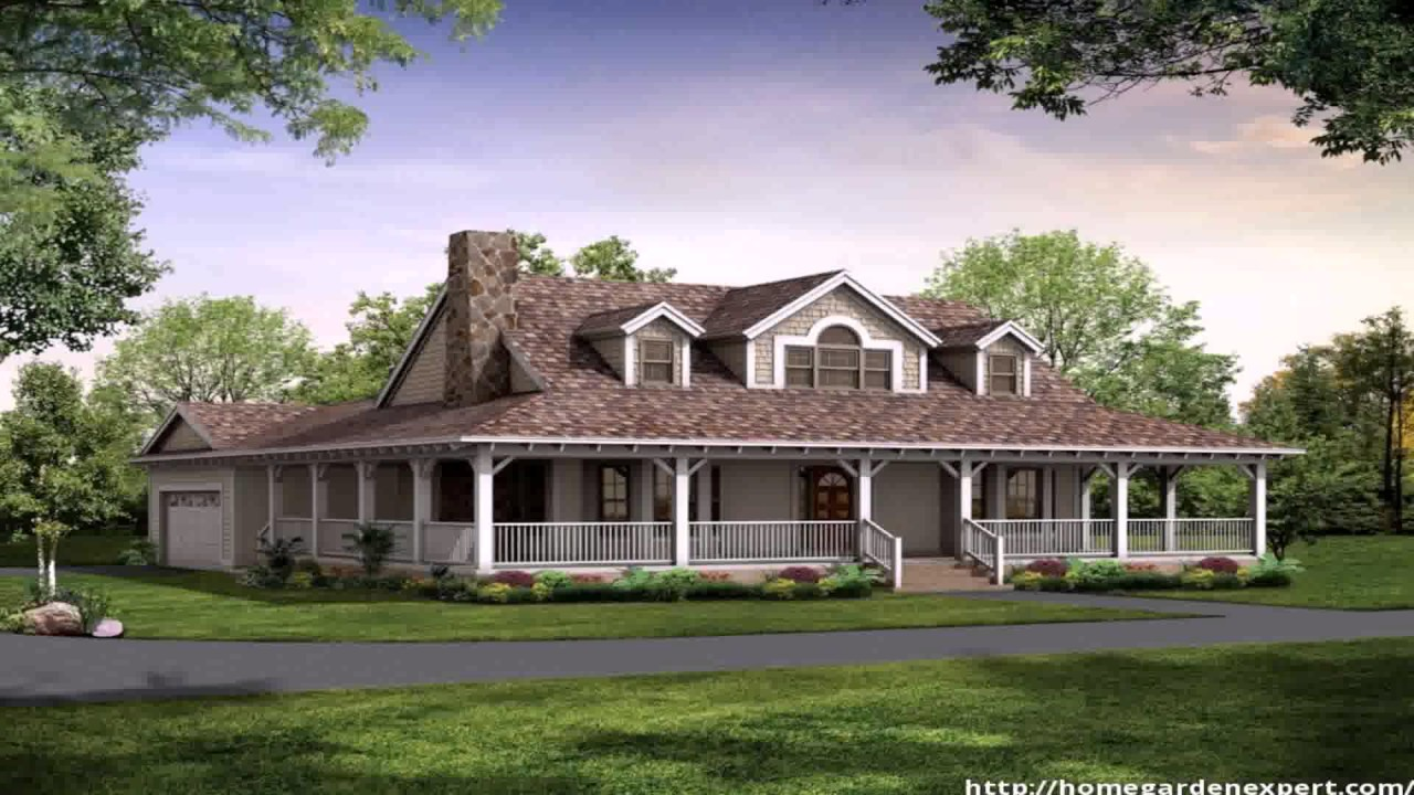 Country style house plans one floor youtube for One story country style house plans