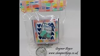 Check You Out 3 x 3 Cards and Gift Box for Craft fairs Ideas SU