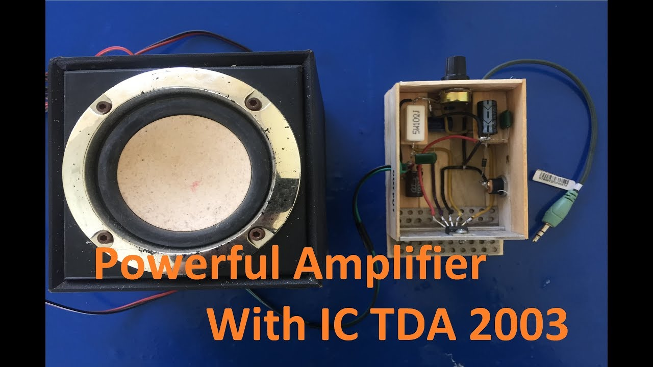 How To Make A Powerful Amplifier With Ic Tda 2003 Youtube Voltage Converter Circuit Using Tda2003