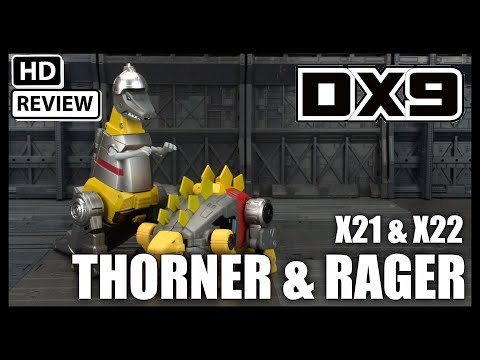 DX9 Toys X21 THORNER and X22 RAGER Transformers Legend Scale Snarl and Grimlock