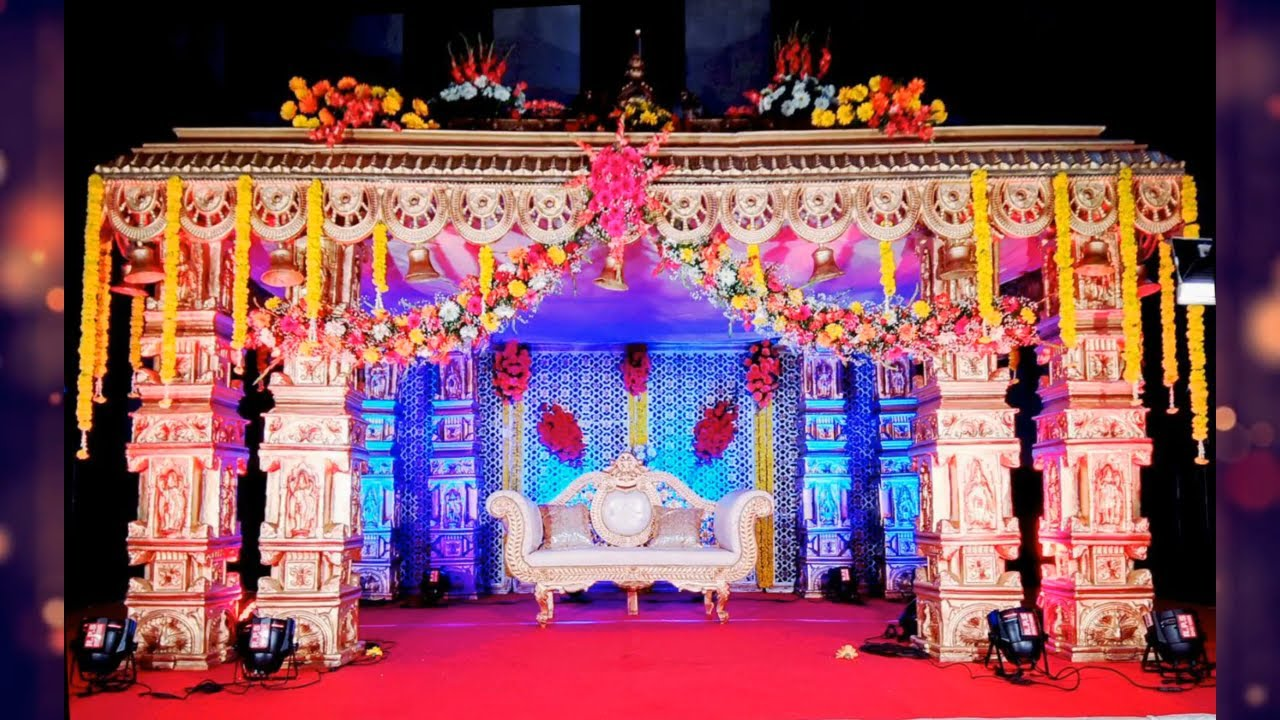 Best Stage Decoration Ideas For Indian Wedding Simple