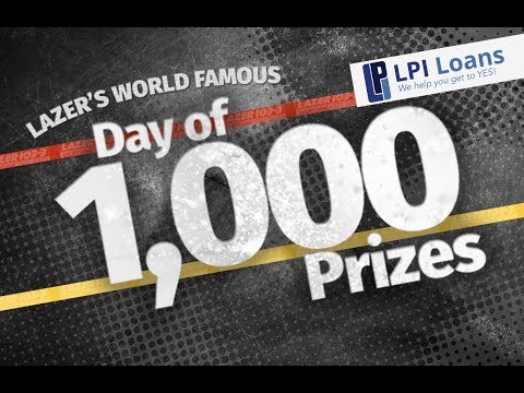 LAZER's World Famous Day of 1,000 Prizes 2017