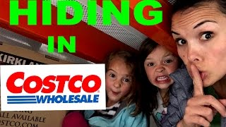 HILARIOUS Hide and Seek  / Family sardines game in Costco Warehouse