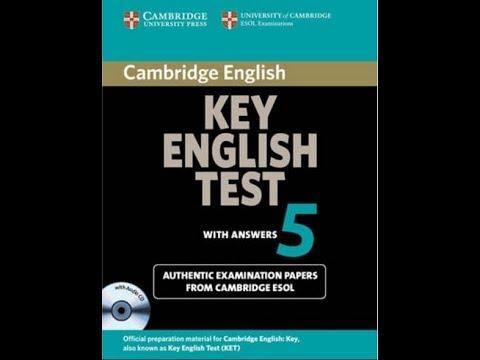 Listening A2 , KET 5, Test 1 , Part 5