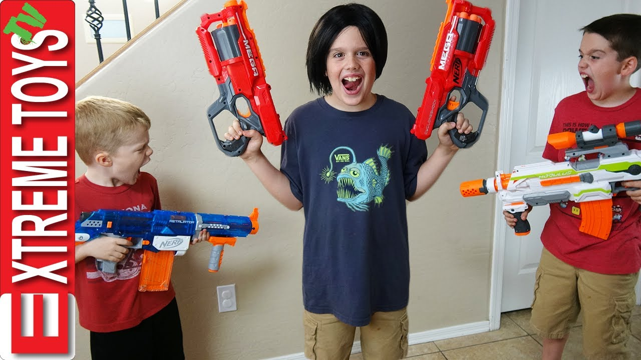 Download Crazy Ethan Clone Nerf Battle! Bad Copy From the Clone Machine Attacks Cole With Nerf Blasters!