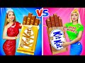 RICH GIRL vs POOR GIRL CHOCOLATE CHALLENGE! || Eating Fake Jewelry! Taste Test by RATATA BOOM