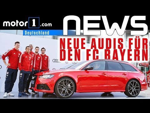 Neue Audis für den FC Bayern München   NEWS