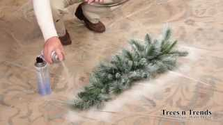 Kevin from Trees n Trends - Unique Home Decor will show you a simple way to create a snow or flocked effect on your Christmas