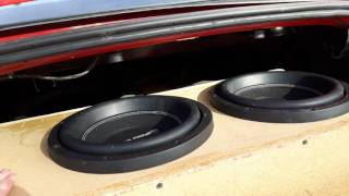 Crazy bass Flex and Excursion from two power acoustik subwoofers