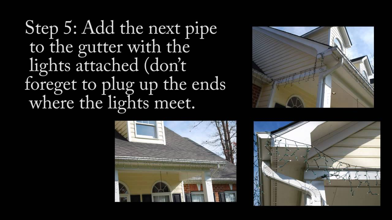 How To Hang Icicle Christmas Lights To Your Gutter
